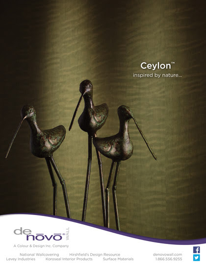 Ad Photography for DeNovo Wall's Ceylon™ Wall Covering | Bcreative