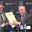 "Gov. Pat Quinn proclaims ""Northwestern Wildcat Football Day"" in Illinois"