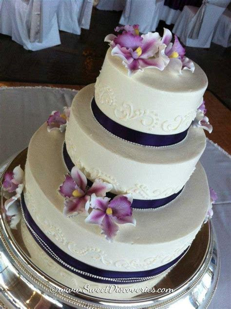 Sugar Orchid Wedding Cake   Sweet Discoveries