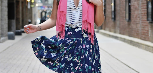 STYLING A FLORAL SKIRT - PART 1 - WAYS OF STYLE