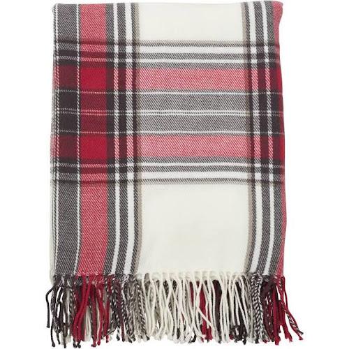 Saro Lifestyle Simple Plaid Fringe Edged Throw Blanket, Black