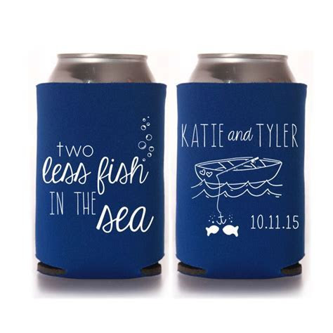Beach Wedding Favors   Personalized 2 Two Less Fish in the