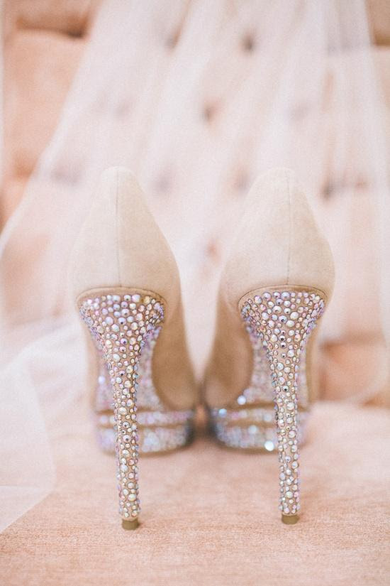 Wedding - Glamorous Sparkly High Heels Wedding Shoes