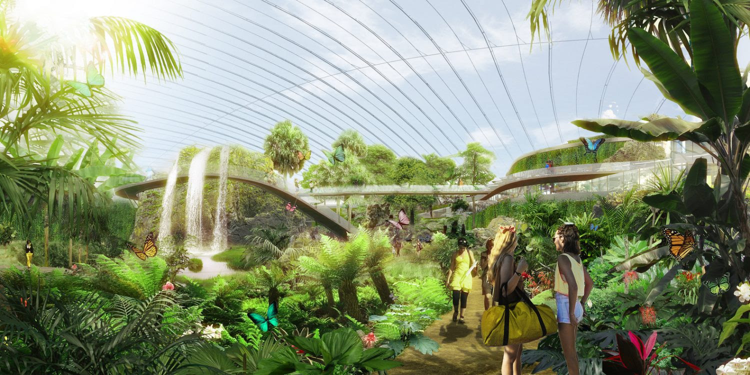 The Worlds Largest Single Domed Tropical Greenhouse Designed By