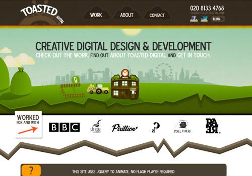 40 diseños web muy creativos - toasted digital