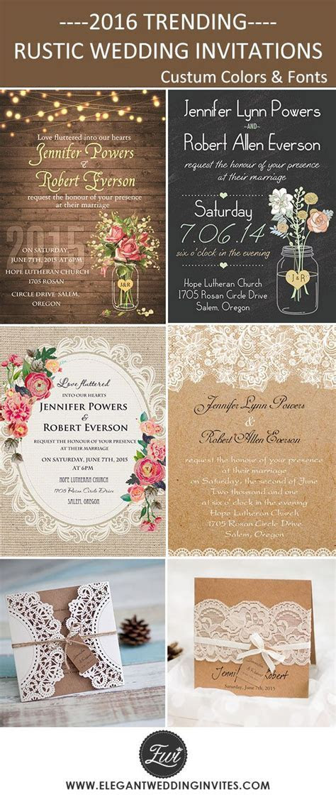 Cheap and Rustic Wedding Invitations as Low as $0.94