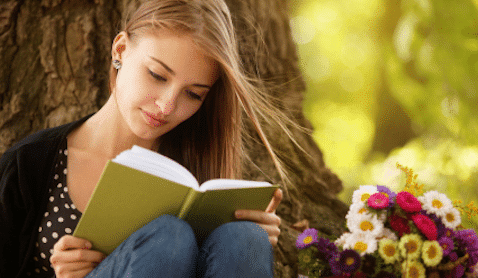 Image result for girl reading book