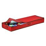 Honey-Can-Do SFT-01598 40 Inch Canvas Gift Wrap Organizer Red Storage and Organization Garage Organizers Holiday Storage