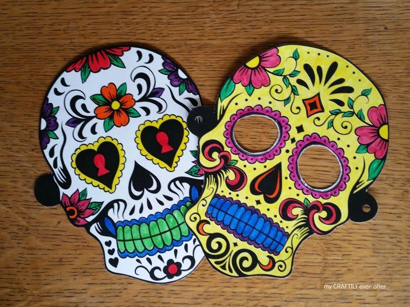 Halloween Printable Sugar Skull Masks See Vanessa Craft