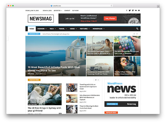 20 Best WordPress Newspaper Themes for News Sites 2016 - Colorlib