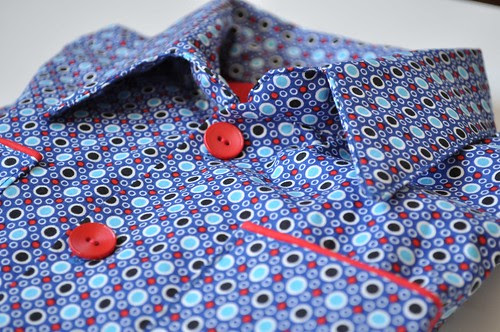 Shirt in Bulles Bleues