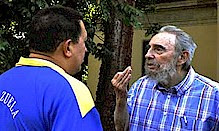 A meeting took place between former Cuban President Fidel Castro and Venezuelan President Hugo Chavez on November 9, 2010. The four-hour fraternal exchange was done in conjunction with the 10th anniversary of cooperation between the two states. by Pan-African News Wire File Photos