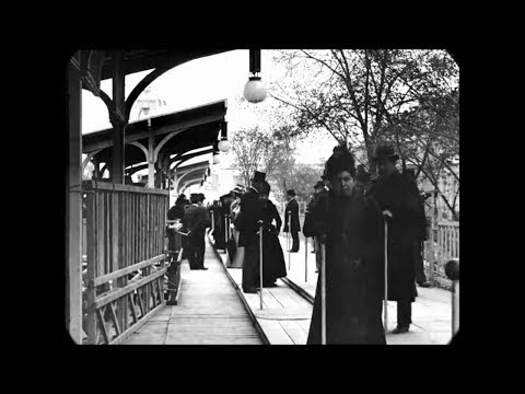 REMASTERED FILM FOOTAGE OF 1890'S PARIS-FRANCE