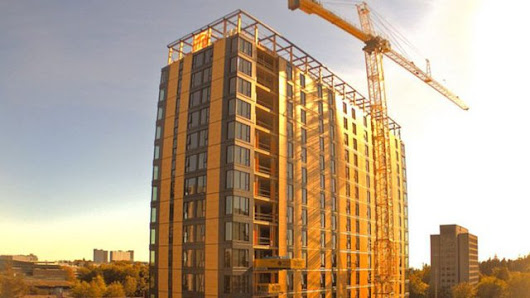 World's tallest timber building topped off ahead of schedule