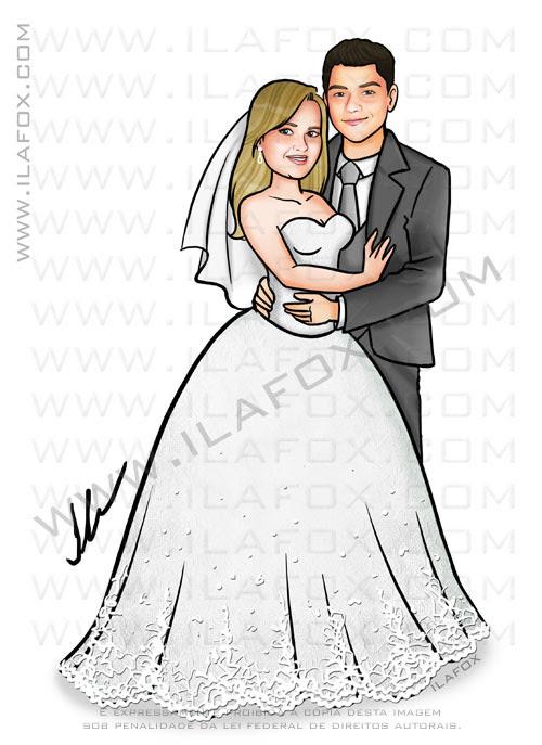 caricatura noivos, caricatura sem exagero, caricatura para casamento, caricatura by ila fox