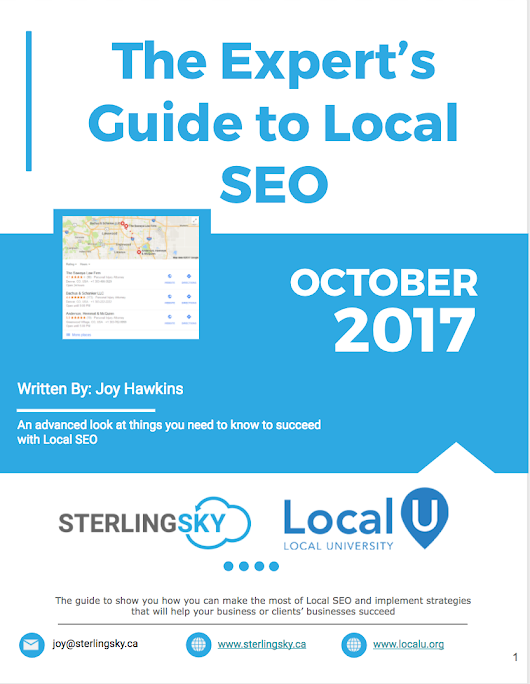 The Expert's Guide to Local SEO - September Updates are Live! - Local University