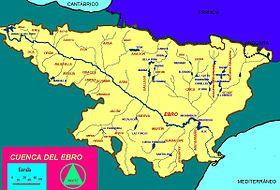 Localización del río Alhama en la cuenca del Ebro