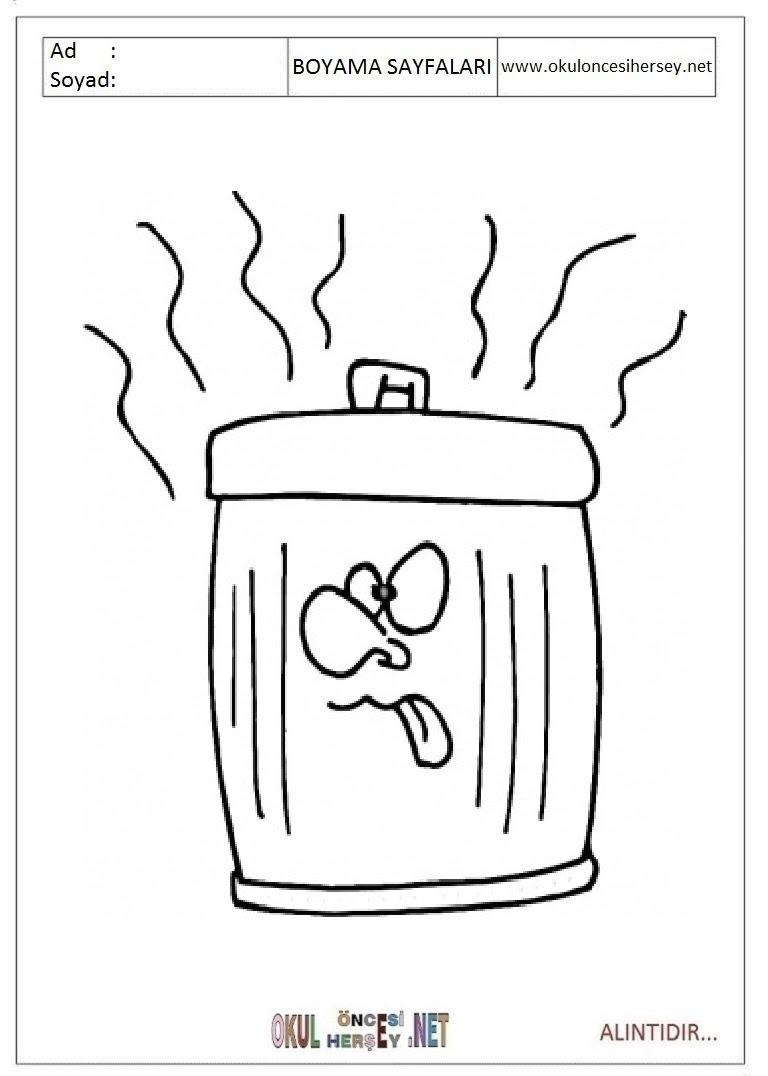 Okul öncesi çöp Kovası Boyama Gauranialmightywindinfo