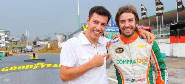 Dimba e Popó Bueno na Stock Car em Brasília (Foto: Fernanda Freixosa/ Stock Car)