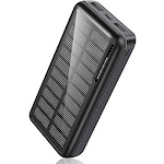 Portable Charger 30,000mAh-Minrise Power Bank Solar 10*7*5cm by Adesso Power