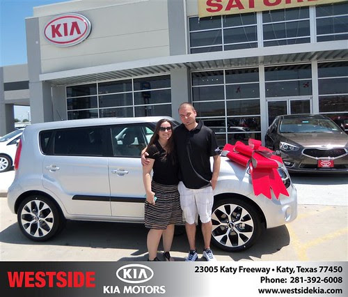 Thank you to Amy Liles on the 2013 Kia Soul from Fabian Murphy and everyone at Westside Kia!