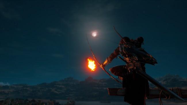 Wallpaper Assassins Creed Origins Bayek Night Arrow