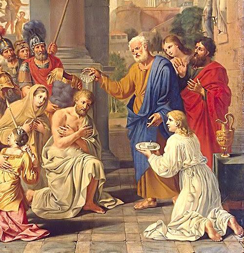 Al primer converso gentil, Cornelio, se le dijo que encontrase a San Pedro, el primer Papa