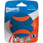 Chuckit! Ultra Squeaker Ball Natural Rubber Dog Toy Large