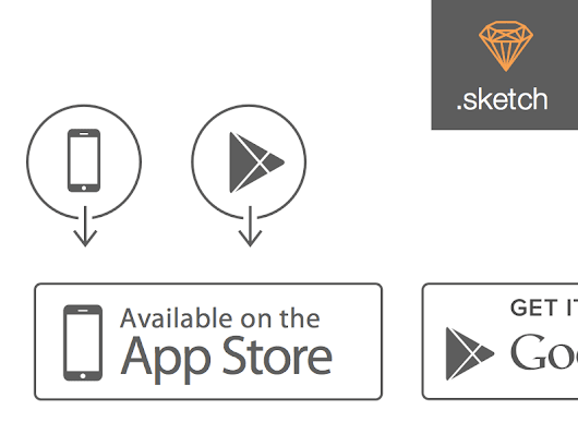 Apple App Store and Google Play Store Icons Sketch freebie - Download free resource for Sketch - Sketch App Sources