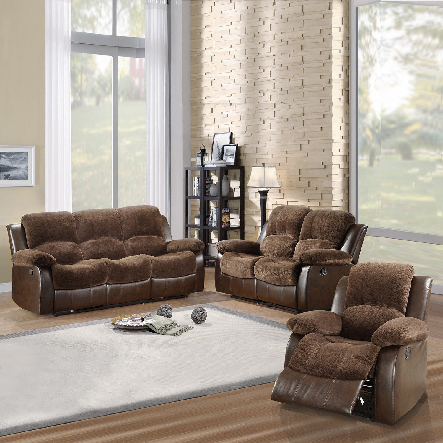 TRIBECCA HOME Coleford 3-piece Tufted Transitional ...
