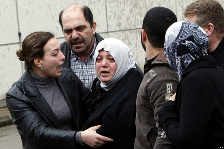 Relatives of those on board at Beirut's airport