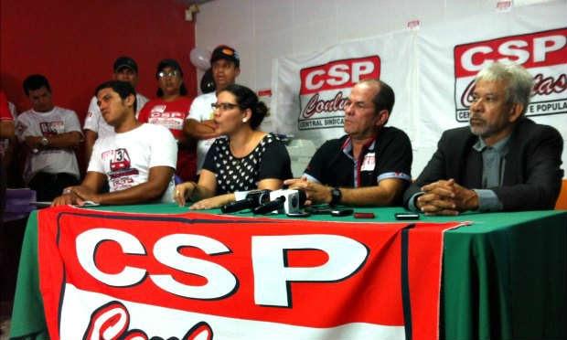 Sindicato dos Rodoviários fala à imprensa / Foto: Mariana Campello / JC Trânsito