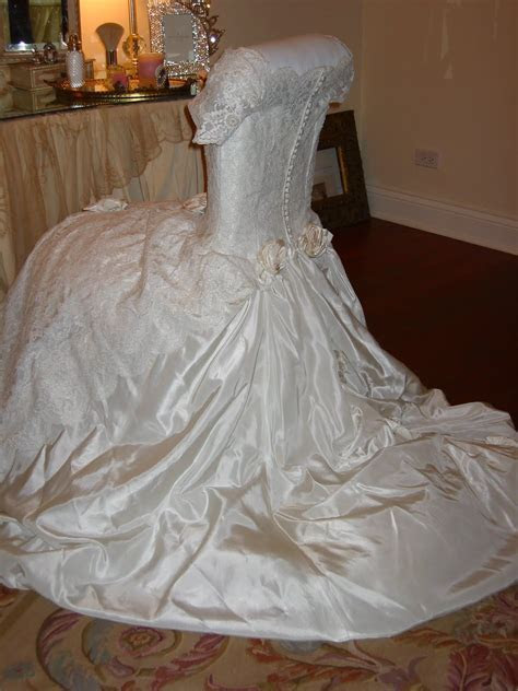 Wedding dress chair cover. Romancing the Home   Table