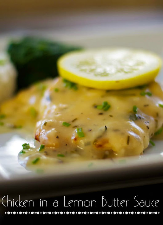 Chicken in a Lemon Butter Sauce