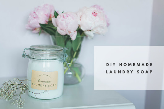 DIY Homemade Laundry Soap + Free Printable Labels