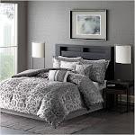 Madison Park Carlow 7-pc. Queen Comforter Set - Grey