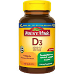 Nature Made Vitamin D3 1000 IU (25 mcg) Tablets - 300ct