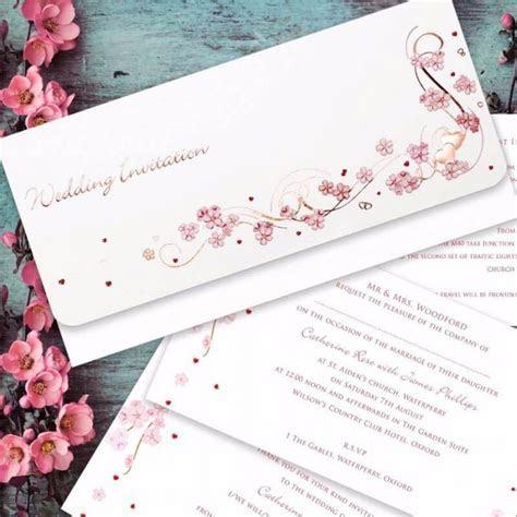 Cherry Blossom Wedding Invitation   Paper Themes Wedding