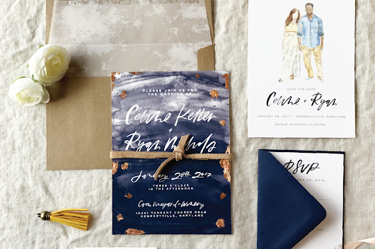Paper Goods and Wedding Stationery from Little Bit Heart + A Giveaway - Oh Lovely Day