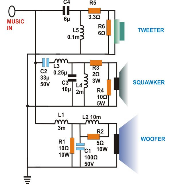 Audio Crossover Circuit