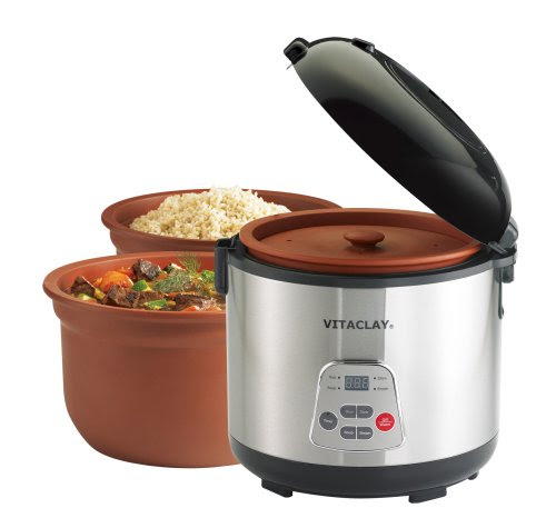 VitaClay VF7700-6 Chef Gourmet 6-Cup Rice and Slow Cooker