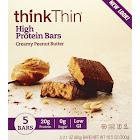 ThinkThin High Protein Bars, Creamy Peanut Butter - 5 pack, 2.1 oz each