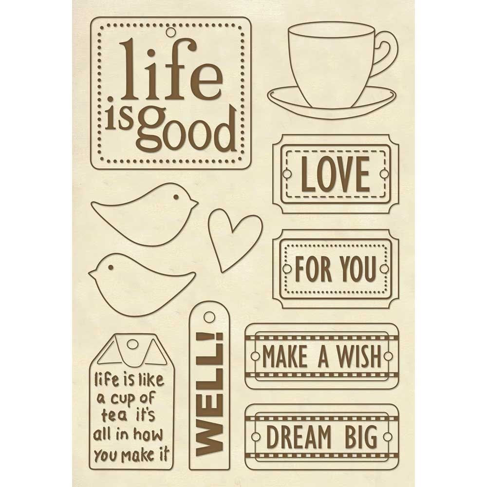 Wooden Frame A5 Size Life Is Good By Stamperia For Scrapbooks