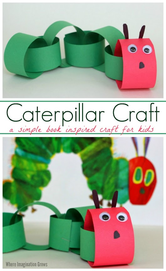 Paper Chain Caterpillar Craft for Kids - Where Imagination Grows