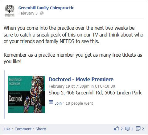Chiropractors' Association and Spinal Research Foundation promoted anti-vaccine movie