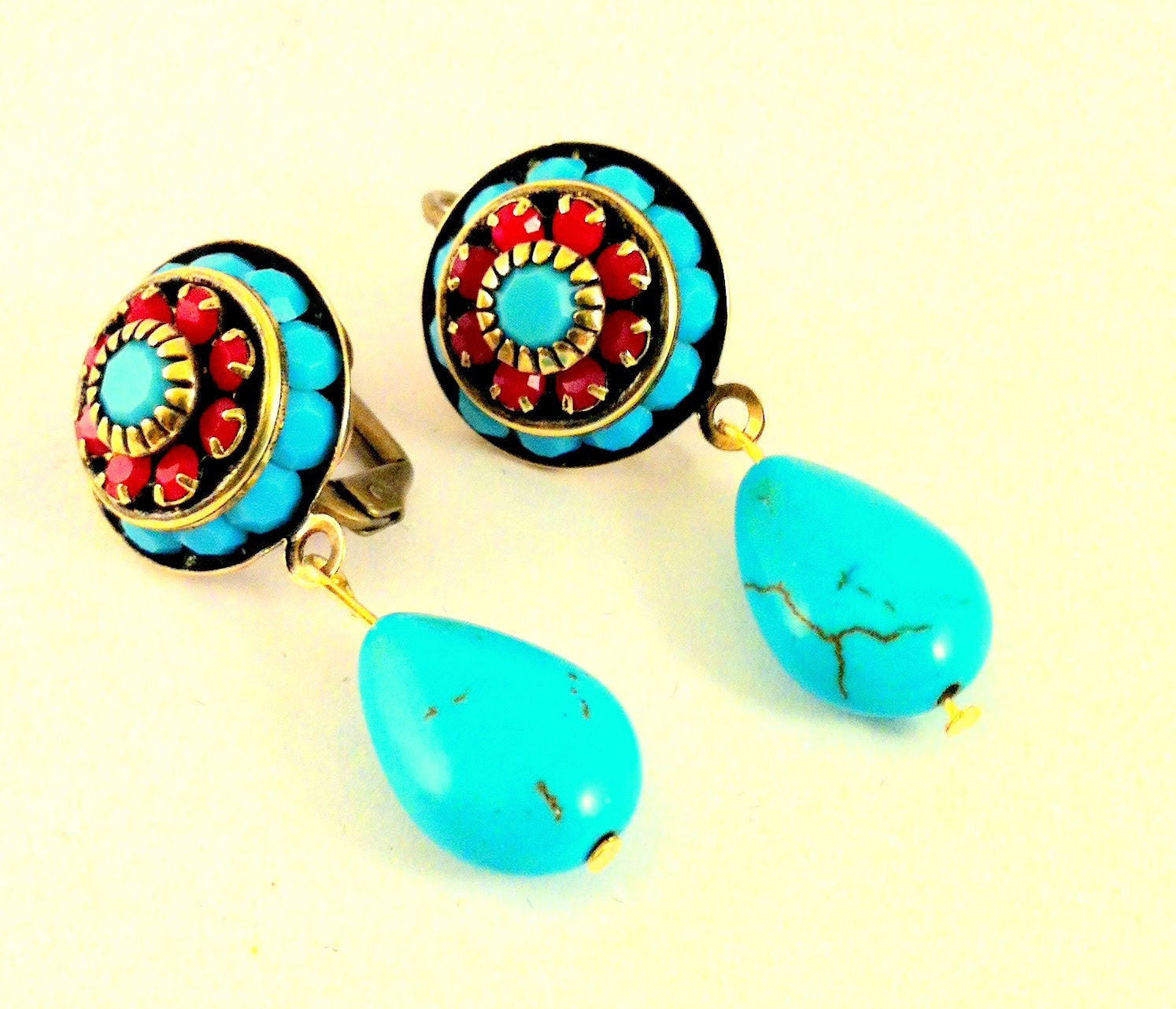 Turquoise Earrings on Etsy