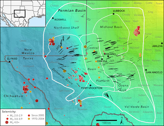 Seismic stress map profiles induced earthquake risk for West Texas, New Mexico