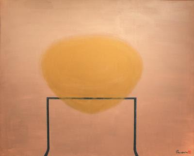 生命種子 162x130 金屬粉末,漆 2007