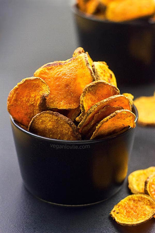 Oven-baked Masala Sweet Potato Chips | Vegan Snack