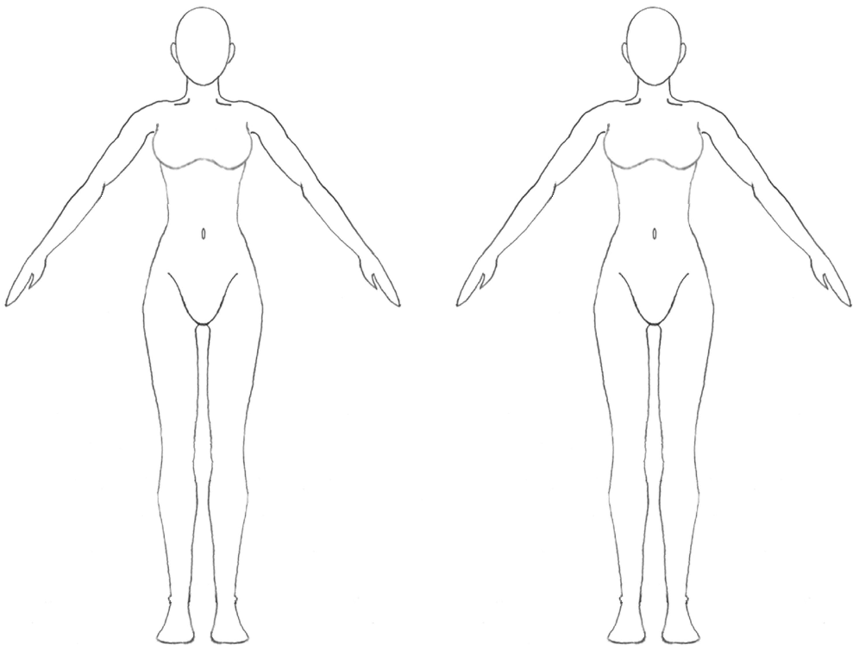 Blank Body Outline Human Body Anatomy
